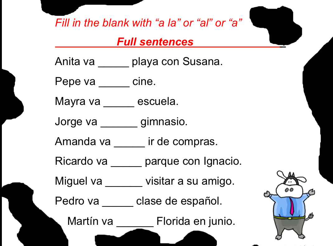Spanish Bell Ringers – Spanish Subject Pronouns Worksheet