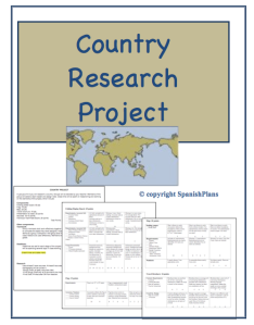 Country Research Project Spanishplans Org