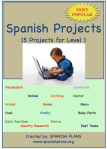 Spanish 1 Projects
