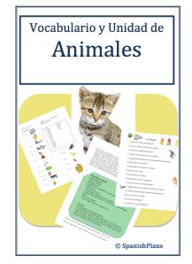 Spanish Animals Unit