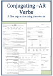 Conjugating AR verbs Unit