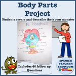 Body Parts Spanish Presentational Project