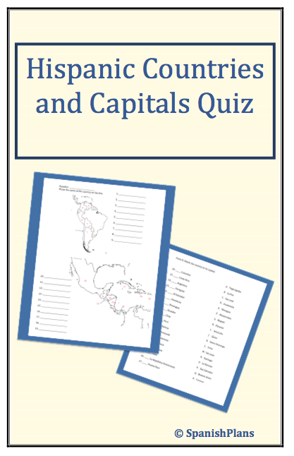 Central America South America Capitals Quiz