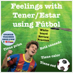 Feelings with Tener Estar