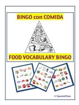 Comida Juego Bingo