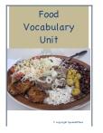 Vocabulario de Comida