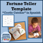 Fortune Teller Template in Spanish