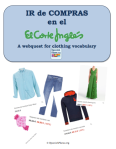Corte Ingles Webquest