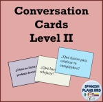Level 2 Spanish Conversation Cards