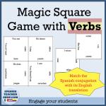Magic Square Spanish Verbs