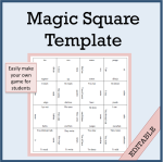 Magic Square Template