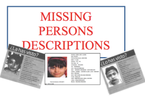 Use Missing Persons to study Descriptions