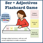 Ser Adjectives Flashcard Game