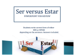 Ser Estar Review Practice