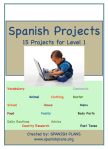 Proyectos para espanol nivel 1