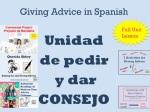 Pedir y Dar Consejo espanol