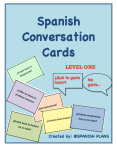 Spanish Oral Activity