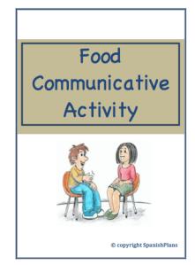 Comida Speaking Activity