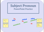 Subject Pronoun Powerpoint