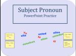 Subject Pronoun Powerpoint