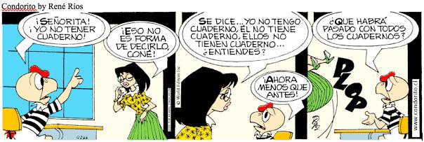 conjugation tener spanish condorito