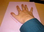 Using your hand to teach verb conjugations