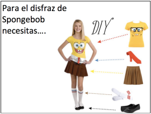 Disfraces Students describe Halloween costumes in Spanish