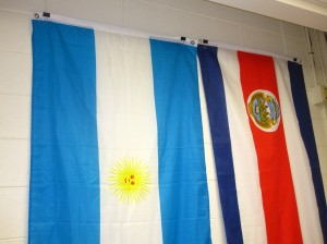 Easy solution to Hang flags in school