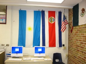 How to easily hang up flags in your classroom