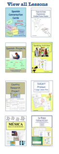 Over 50 Spanish Teaching Products/Lessons