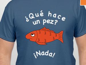 que hace un pez tshirt