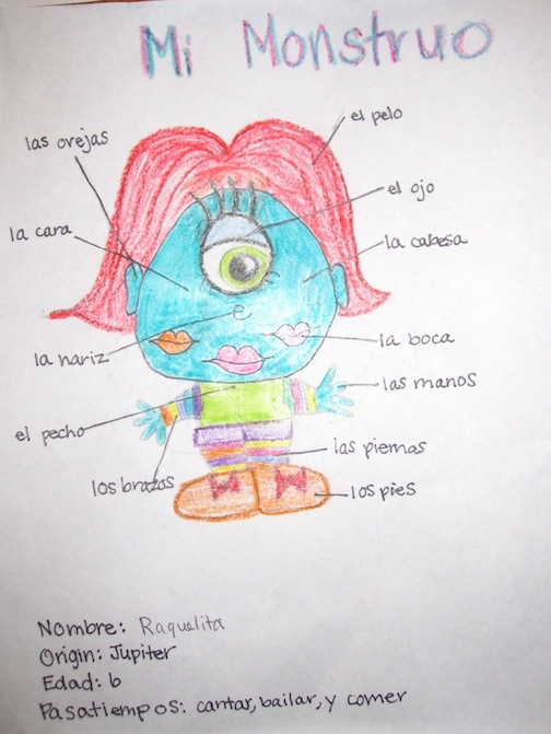 El Cuerpo – Body Parts in Spanish Worksheet