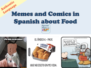 Spanish Memes and Comics about Food