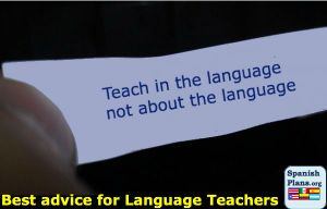 spanish teaching advice