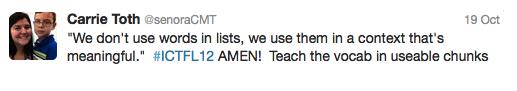 we dont use vocab lists