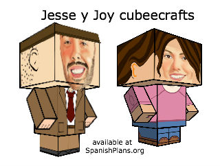 Make your own Jesse y Joy Figures