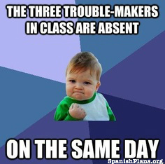 3 troublemakers absent on same day