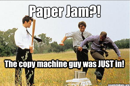 office paper jam meme