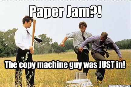 office paper jam meme