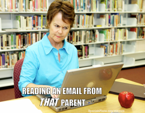 reading an email from that parent