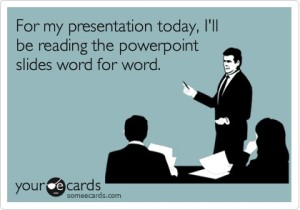 reading powerpoint word for word