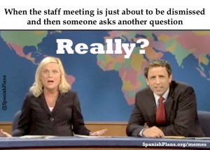 staff meeting asking question