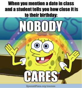 Student birthdays