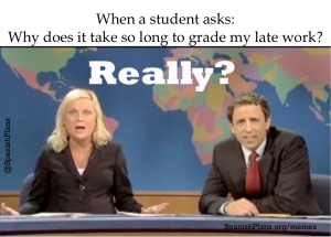 Students late work meme
