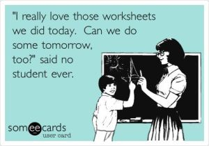 worksheet learning