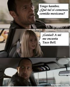 Taco Bell no es comida mexicana meme