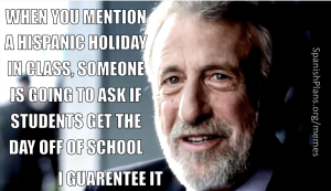 The first question student ask when learning about a Hispanic holiday
