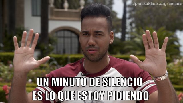 Romeo Santos un minuto de silencio es lo que estoy pidiendo