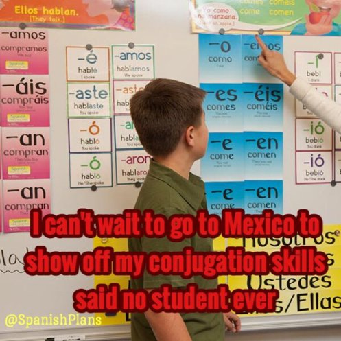 Show off my conjugation skills