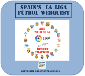 Spain La Liga futbol Webquest